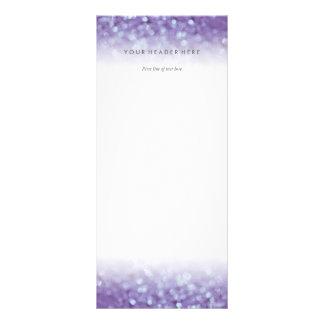 Glitter Rack Card Purple Glowing Glittering Bokeh