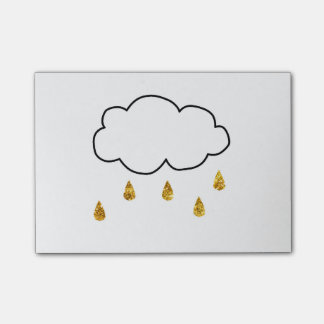Glitter Rain Post-it Notes