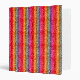Glitter Rainbow gradient 3 Ring Binders