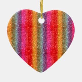 Glitter Rainbow gradient Ornaments