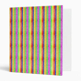 Glitter Rainbow Pattern Vinyl Binder