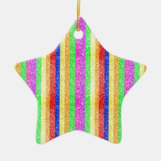 Glitter Rainbow Pattern Ornaments