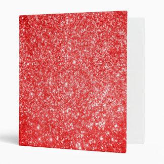 Glitter Red Binder