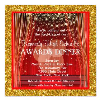 Glitter Red Carpet Hollywood Fundraiser Invitation