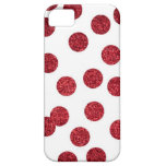 Glitter Red iPhone Case (Polka-dots) iPhone 5 Case
