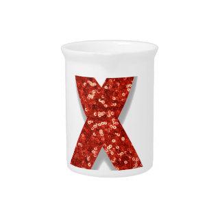 glitter red ribbon drink pitcher