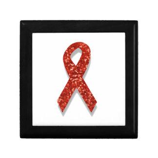 glitter red ribbon jewelry box