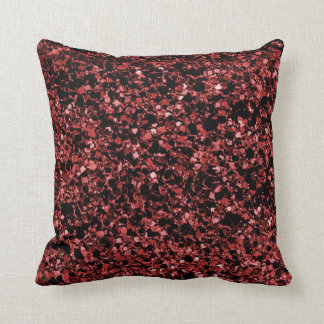 Glitter red texture throw pillow