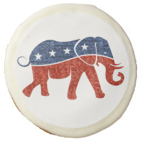 glitter republican elephant cookies