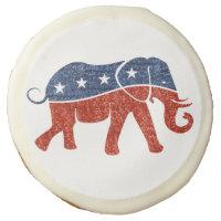 glitter republican elephant cookies