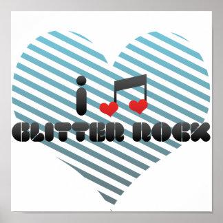 Glitter Rock fan Print