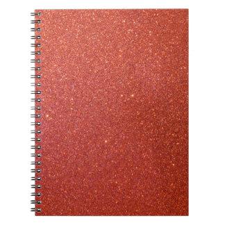 Glitter roja libreta espiral