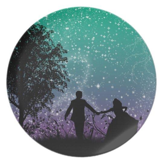 Glitter Romance Plate