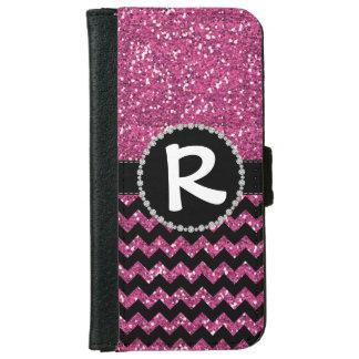 Glitter Rose Chevron, Diamond Ribbon Flap iPhone 6 Wallet Case