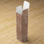 """Glitter Rose Gold glitter sparkle shiny Wine Box<br><div class=""""desc"""">Gold is where its at. Take advantage of this new (classic) trend with this product that has the look of gold,  but at a fraction of the price.   This product sports a Rose Gold Glitter look.   Visit https://www.zazzle.com/all_gold_everything for more Golden products.</div>"""
