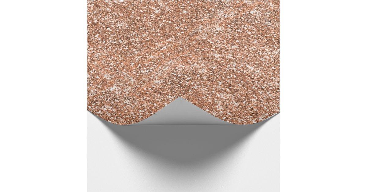 Glitter Rose Gold Wrapping Paper Zazzle Com