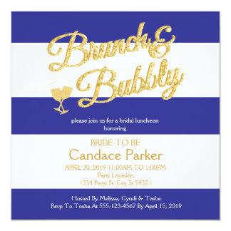 Glitter, Royal Blue Bridal Shower Invitations