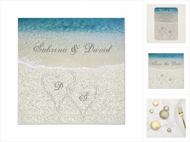 Glitter Sandy Beach Wedding