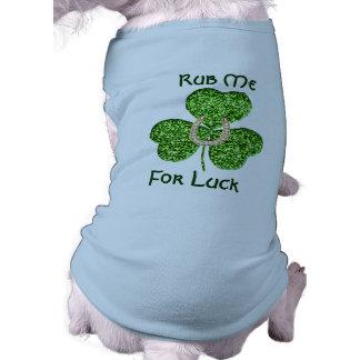 Glitter Shamrock And Horseshoe Dog Shirt