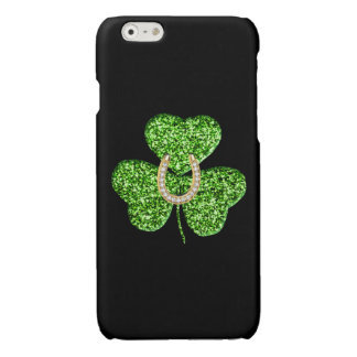 Glitter Shamrock And Horseshoe iPhone 6 Case