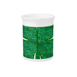 glitter shamrock pitchers