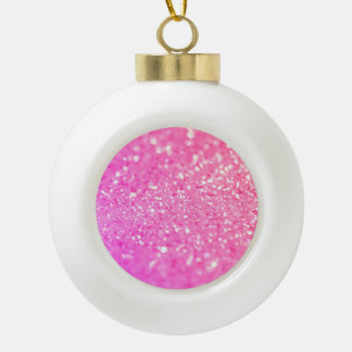 Glitter Shiny Luxury Ceramic Ball Christmas Ornament
