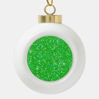 Glitter Shiny Sparkley Ceramic Ball Christmas Ornament
