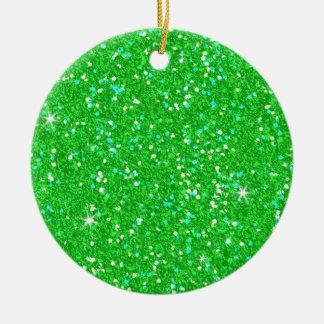 Glitter Shiny Sparkley Ceramic Ornament