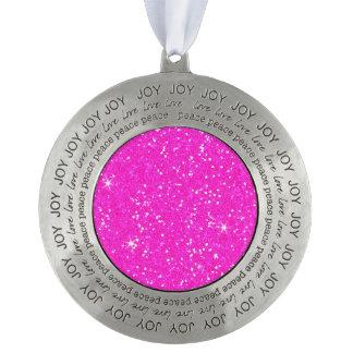 Glitter Shiny Sparkley Pewter Ornament