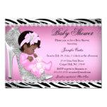 Glitter Shoe Baby Girl Baby Shower Ethnic Card