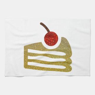 Glitter Slice of Cake Kitchen Towel