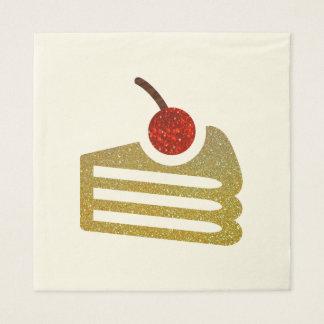 Glitter Slice of Cake Napkins