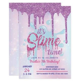 Glitter Slime Party Invitation
