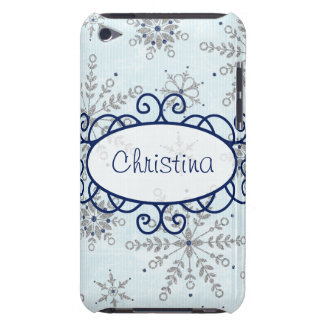 Glitter Snowflake IPod Touch Barely There Case