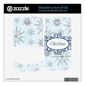 Glitter Snowflakes Blackberry Skin