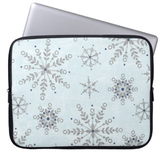 Glitter Snowflakes Laptop Sleeve Protective Case