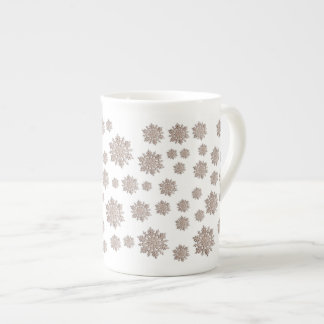 Glitter Snowflakes Tea Cup