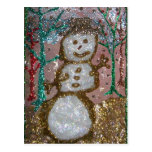 Glitter Snowman 3D Collage Post Cards