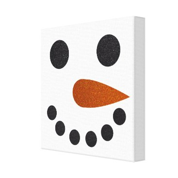 Christmas Themed Glitter Snowman Winter Canvas Art Christmas Gift