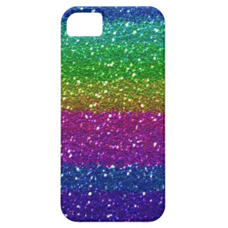 Glitter Sparkle Rainbow Colorful Friend Family Art iPhone SE/5/5s Case