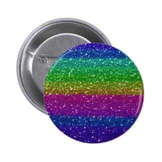 Glitter Sparkle Rainbow Colorful Friend Family Art Pinback Button