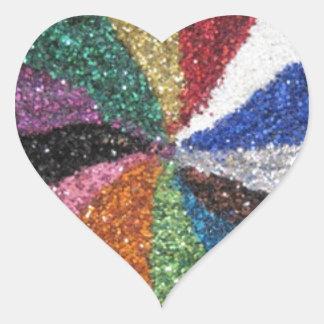 Glitter Sparkle Shine Thanks Welcome Party Shower Heart Sticker