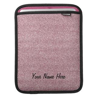 Glitter & Sparkles Pink (add name) iPad Sleeve