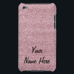 "Glitter &amp; Sparkles Pink (add name) iPod Touch Case<br><div class=""desc"">You can personalize with your own name or your text!  What a fun &amp; sparkly case for any woman or girly girl!  Who can resist this beautiful and fully customizable gift!</div>"