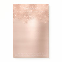 Glitter Sparkly Pink Rose Gold Powder White Glam Post-it Notes