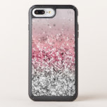 """Glitter Speck iPhone Case<br><div class=""""desc"""">Pink and Silver Glitter Speck Presidio iPhone 8/7s/7/6s/6 Plus Case Designed to make an impact – and take one! Speck&#39;s dual-layer Presidio case protects your phone against drops up to 10 feet with the IMPACTIUM™ Shock Barrier.</div>"""