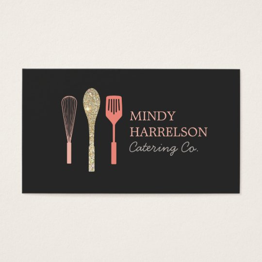 Glitter spoon whisk spatula bakery catering logo business card glitter spoon whisk spatula bakery catering logo business card reheart Images
