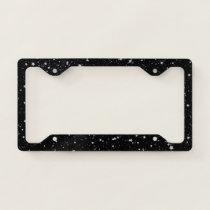 Glitter Stars2 - Silver Black License Plate Frame