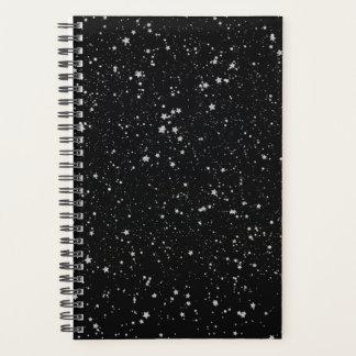 Glitter Stars2 - Silver Black Planner