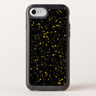 Glitter Stars3 - Gold Black Speck iPhone Case